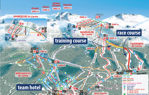 Race map - Borovets, Bulgaria