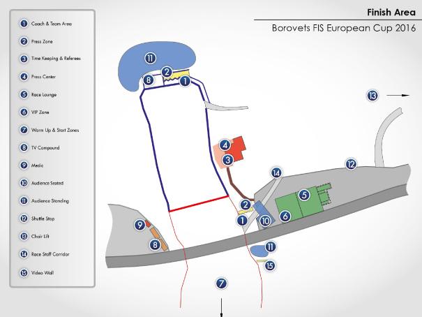 Race map - Borovets, Bulgaria